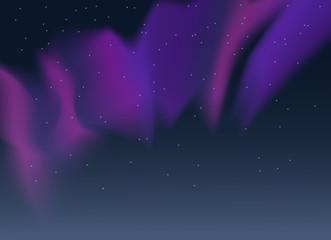 Vector blue pink purple aurora borealis northern lights