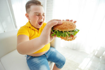 A child with overweight