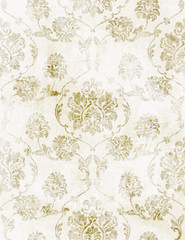 Royal Baroque texture pattern Vector. Floral ornament decoration. Victorian engraved retro design. Vintage grunge fabric decors. Luxury fabrics