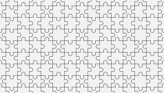 Puzzle or jigsaw seamless pattern.