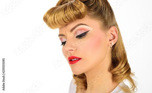 05401c201a4 Eye makeup. Beautiful eyes retro style make-up. Holiday makeup. Eyeliner.