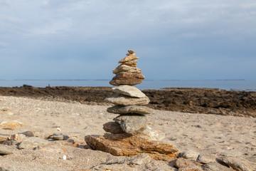 Kairn sur une plage