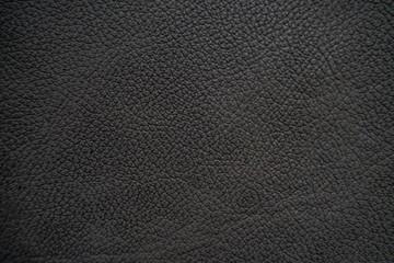 Genuine full grain black cow leather texture