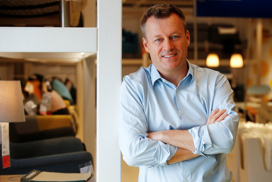 Jesper Brodin, chief executive of Ingka Group, which owns most stores of the world's biggest furniture group IKEA, poses for a picture at an IKEA store in Kaarst