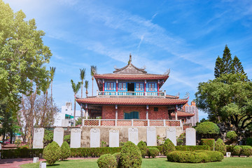 Beautiful scenic of Chihkan Tower or Fort Provintia or Providentia which built in the 17th century by Dutch colonists, this former military fort is notable for its history in Tainan city, Taiwan.