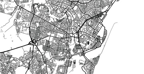 Urban vector city map of Recife, Brazil