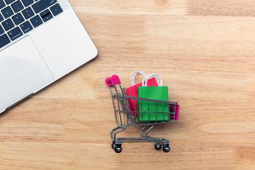 d31551ad812 Online shopping concept Shopping cart
