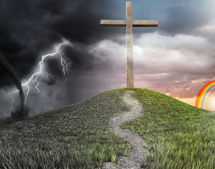 a cross on the hill concept of salvation