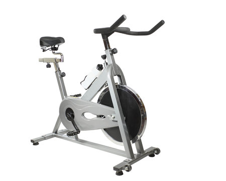 Spinner Exercise bicycle  isolated on white