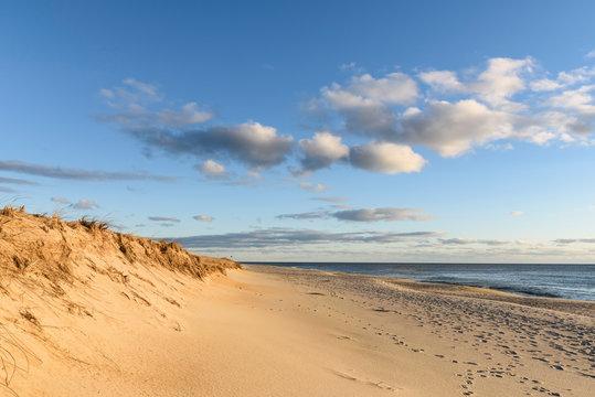 Sunny Morning at Beach at Cape Cod National Seashore