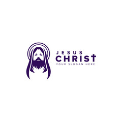 Jesus Christ Vector. holy week logo