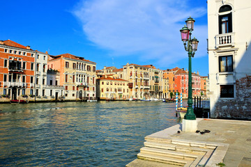 Wall Mural - Colorful palaces lining the famous Grand Canal, Venice, Italy