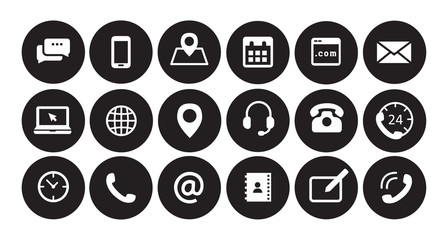 Business icons black and white