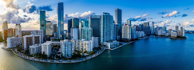Self adhesive Wall Murals Chicago Miami Skyline