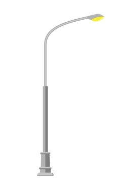 street light lamp icon isolated on white background. Vector illustration in flat style
