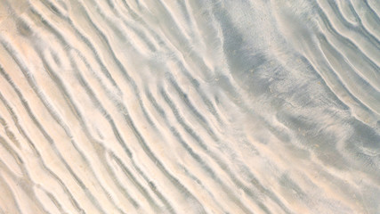 Aerial top view, The surface of the sand beach background ,Wallpaper