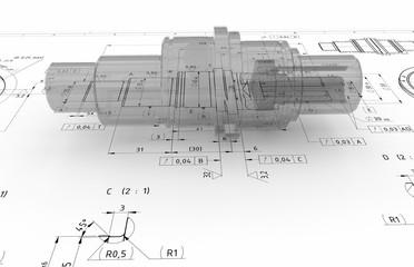 excenter shaft 3d