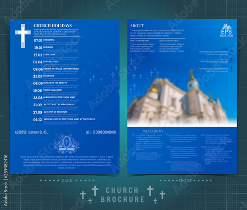 Flyer Template Design With Church