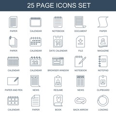 page icons