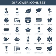 25 flower icons