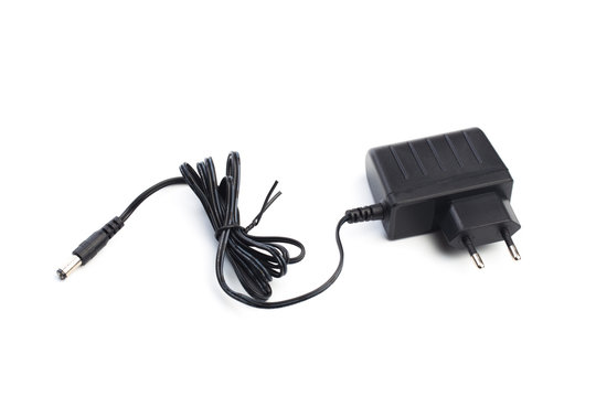AC\DC power adapter isolated on white