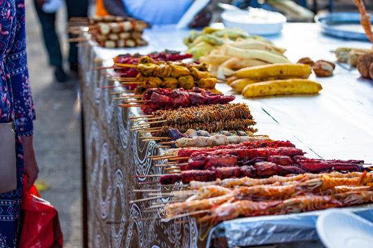 Street food Forodhani on the waterfront, Stone town, Zanzibar.
