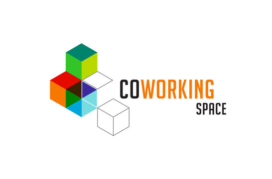 Coworking Space, networking zone logo and icon. Vector design