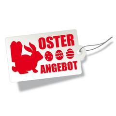 Osterangebot - Etikett mit Osterhase und Ostereiern