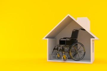 Wheelchair inside house cross section