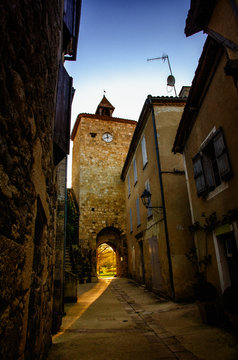 Fourcès is an original round Bastide in the Department of Gers, France