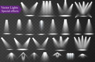 Printed roller blinds Light, shadow Vector spotlight Light