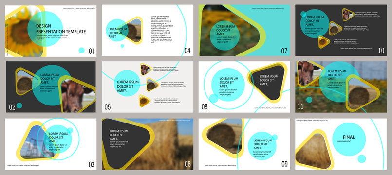 Agro presentation template. Elements for slide presentations on a white background. Flyer, brochure, corporate report, marketing, advertising, annual report, banner