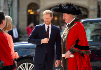 Britain's Prince Harry attends the Lord Mayor's Big Curry Lunch, in London