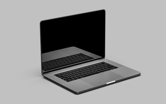 Laptop, design template.
