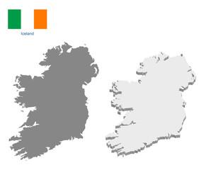 Obraz Ireland map with vector flag - fototapety do salonu