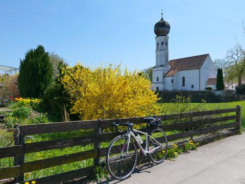 Rennradfahren im Münchner Umland