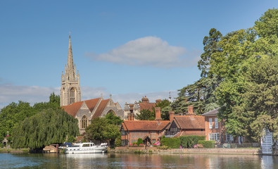 The pretty town of Marlow on the banks of the River Thames Wall mural