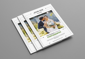 Photography Brochure with Green Accents