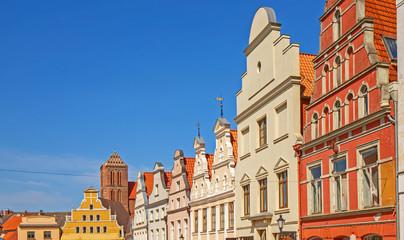 Wismar Altstadt Giebel Panorama