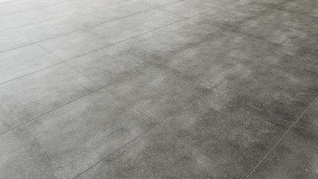 Pavimento in piastrelle gres porcellanato grigio scuro