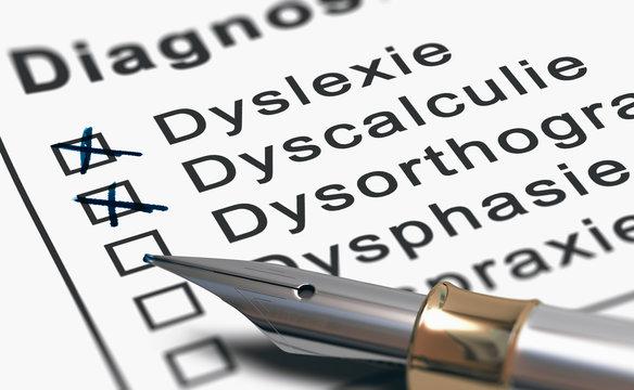 Diagnostic d'un enfant dys. Troubles des apprentissages. Dyslexie et dyscalculie.