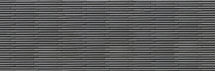 Wall Mural - horizontal dark gray modern brick wall for pattern and background