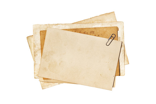 Blank old yellowed paper mockup for vintage photos or postcards