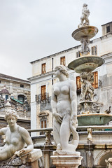 Wall Mural - Sculptures of Fountain of Shame