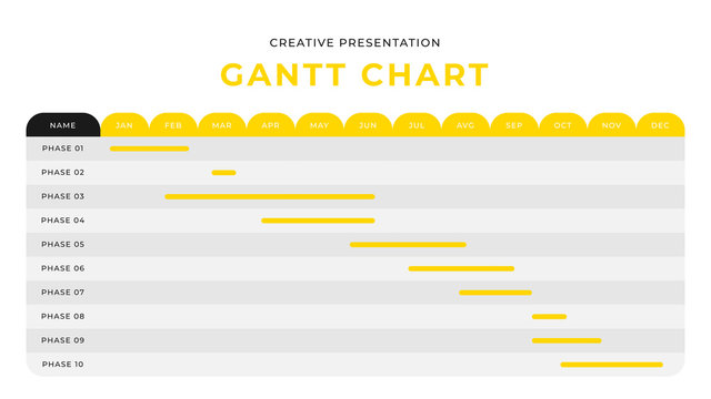Yellow and black monthly report business infographic diagram chart presentation design with tab ui. Editable annual flyer corporate presentation banner design template. Simple webpage design
