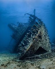 Wrack der Giannis D bei Abu Nuhas im Roten Meer in Ägypten