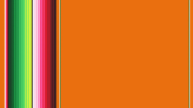 Orange Mexican Blanket Serape Stripes Background with Copy Space for Text & Seamless Pattern Tile Swatch Included. Cinco de Mayo Decor or Mexican Restaurant Menu Backdrop. 9:16 Aspect Ratio HD Format