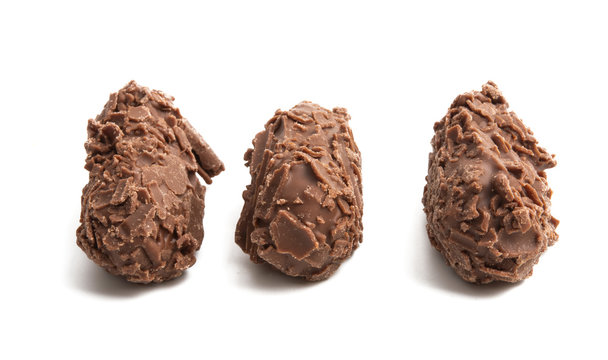 chocolate truffle isolated