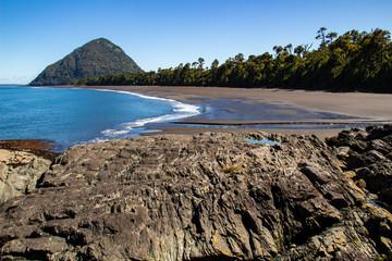 La spiaggia Santa Barbara, Chaitèn, Patagonia, Cile