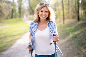 Nordic Walking im Park